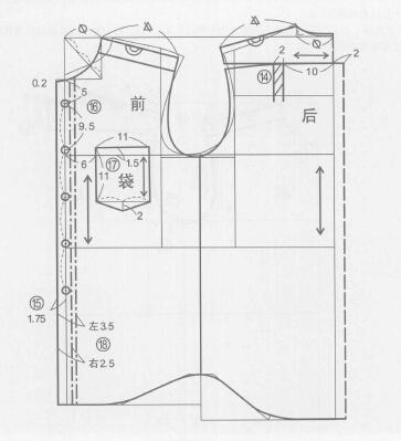 日常基本型衬衫制图步骤及说明(前后片)