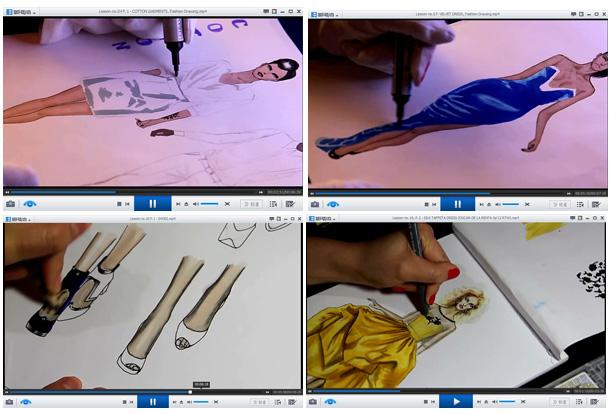 时装画服装设计手绘教程